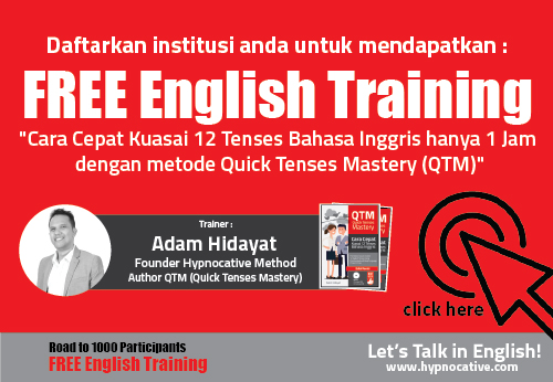 Web banner free english training